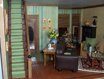 San Franciscan Dollhouse Living Room