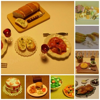 Miniature Dollhouse Food Tutorials