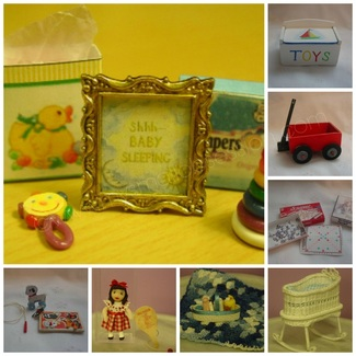 Miniature Nursery, Toys & Games Tutorials