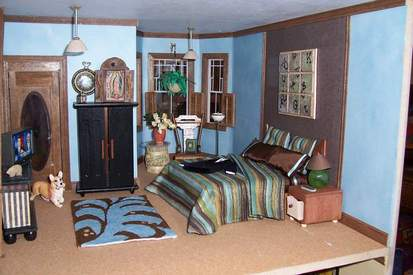 San Franciscan Dollhouse Bedroom