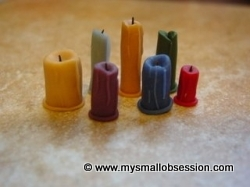 Miniature Dollhouse Candle Tutorial