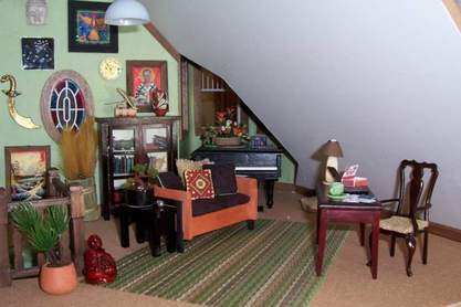 San Franciscan Dollhouse Sitting Room