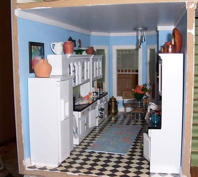 San Franciscan Dollhouse Kitchen
