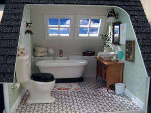 Baxter Pointe Villa Dollhouse Bath