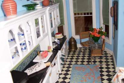San Franciscan Dollhouse Kitchen 2